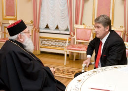President Meets Patriarch Lubomyr Husar